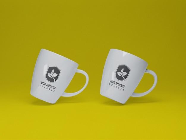 Representación 3d de maqueta de taza