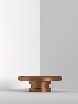 Representación 3d del podio de forma de geometría de escena abstracta para exhibición de productos