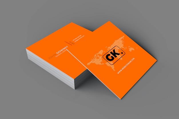 Representación 3d de tarjetas de presentación de maquetas.