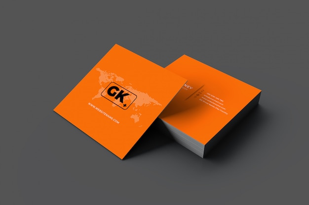 Representación 3d de tarjetas de visita