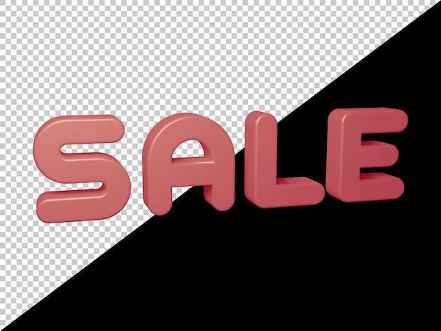Representación 3d del texto de venta
