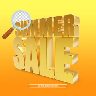 Representación 3d de venta de verano