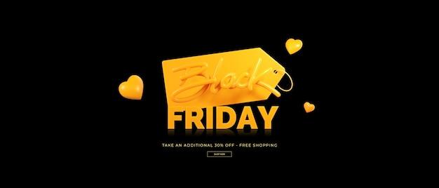Representación 3d de la venta del viernes negro