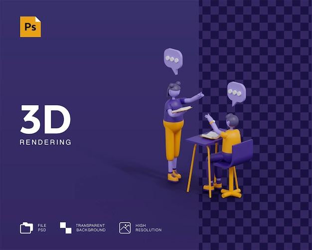 Representación del concepto 3d learn anywhere