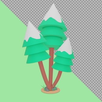 Representación del diseño del árbol de navidad aislado