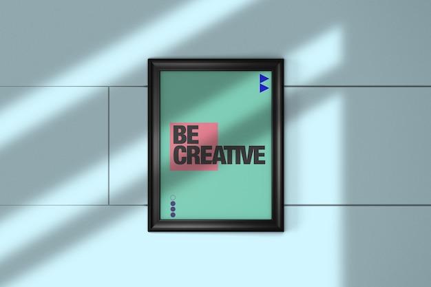 Representación de diseño de maqueta de marco de foto