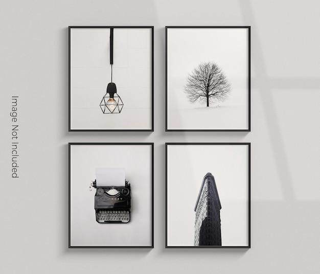 Representación de diseño de maqueta de marco