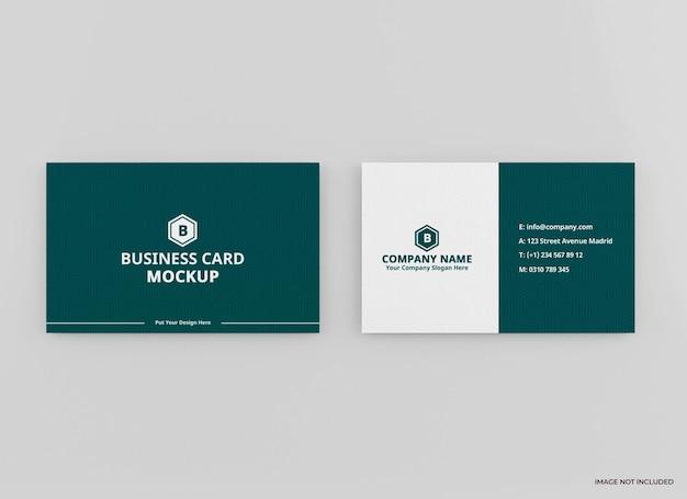 Representación de diseño de maqueta de tarjeta de visita aislada
