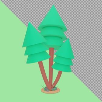 Representación del diseño del resorte del árbol aislado