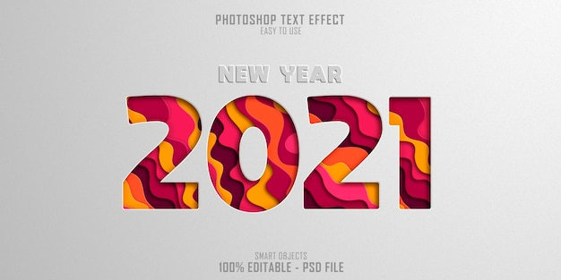 Representación de efectos de estilo de texto de combinación de colores 2021