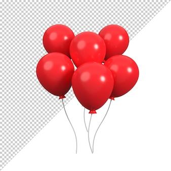 Representación de la ilustración 3d del globo