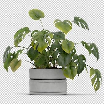 Representación isométrica planta 3d