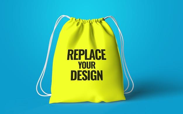 Representación realista de maqueta de bolsa