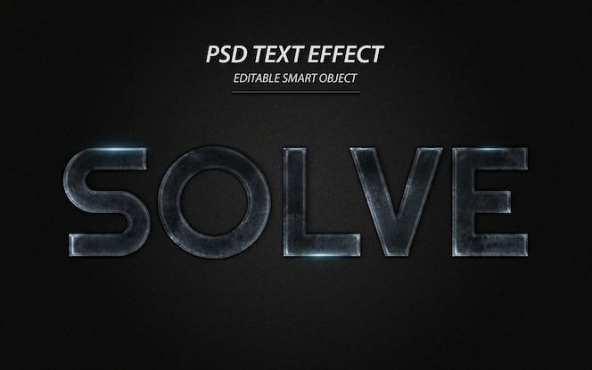 Resolver plantilla de diseño de efectos de texto