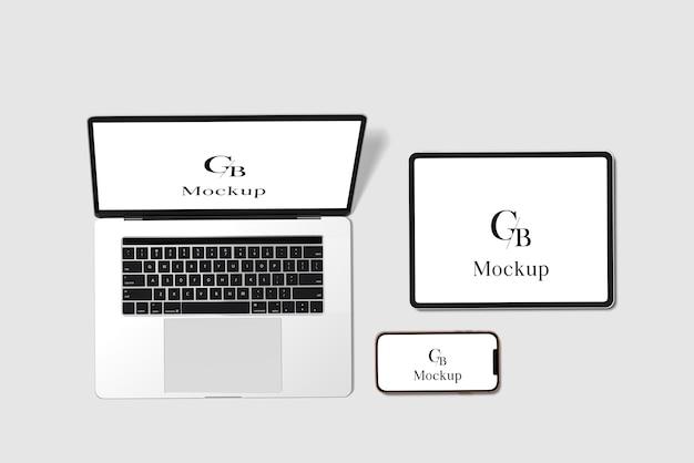 Responsieve website-mockup voor meerdere apparaten