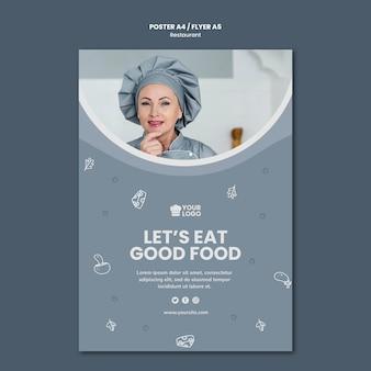 Restaurant advertentie poster sjabloon