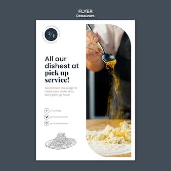 Restaurant beveiliging folder sjabloon
