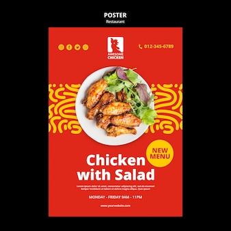 Restaurant concept poster sjabloon