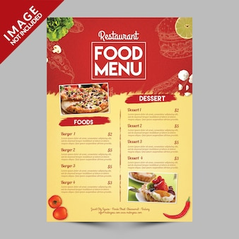 Restaurant eten menu