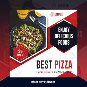 Restaurant eten sociale media post sjabloon voor spandoek