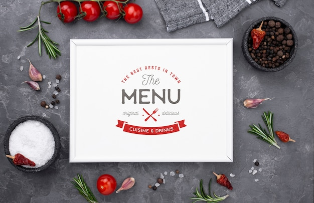 Restaurant menu concept mock-up