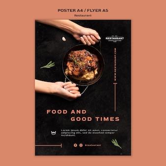 Restaurant promo folder sjabloon