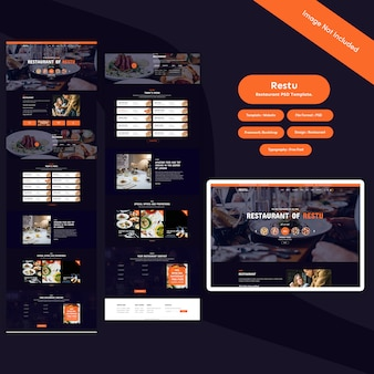 Restaurant psd-sjabloon