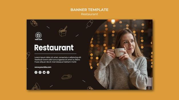 Restaurant sjabloon voor spandoek