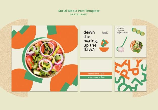 Restaurant sociale media post-sjabloon