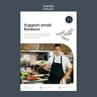 Restaurant zakelijke poster