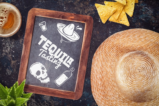 Restaurante mexicano maqueta