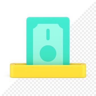Retirar dinero icono 3d