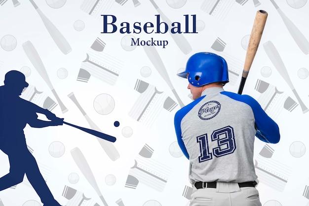 Retrato de jugador de béisbol con casco