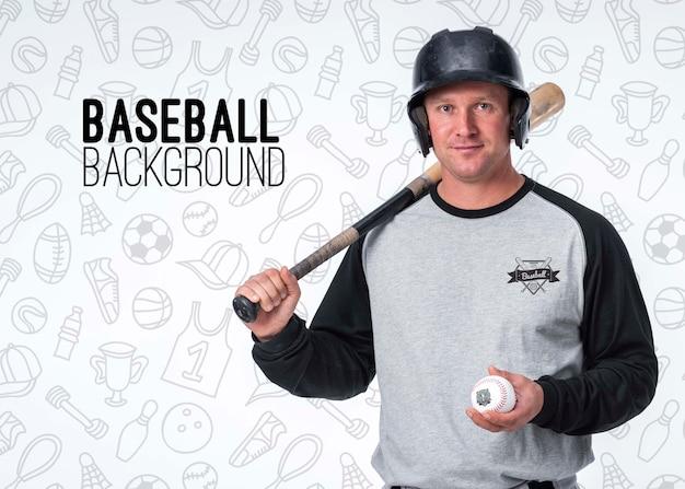 Retrato de jugador de béisbol profesional