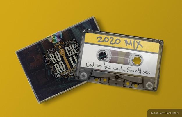Retro audiocassette met doosmodel