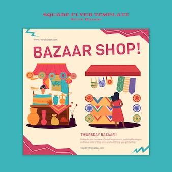 Retro bazaar afdruksjabloon