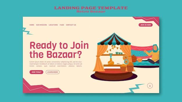 Retro bazaar websjabloon