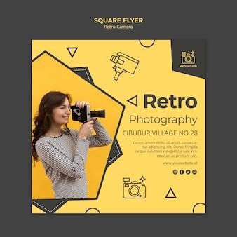 Retro camera flyer