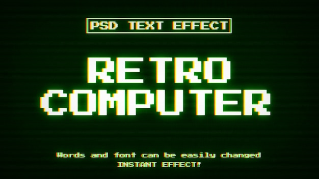 Retro computer teksteffect