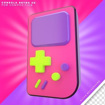 Retro-console 3d