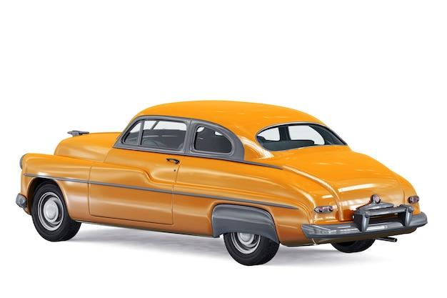 Retro coupé auto 1949 mockup