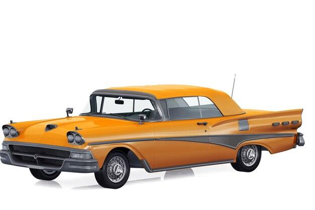 Retro coupé auto 1958 mockup
