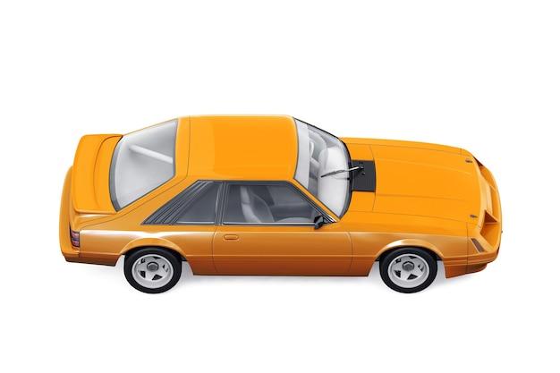 Retro coupé auto 1983 mockup