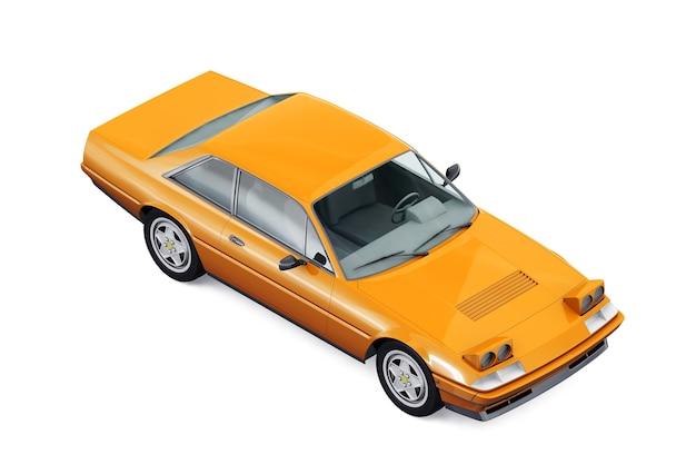 Retro coupé auto 1985 mockup