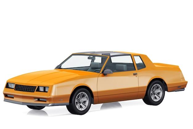 Retro coupé auto 1986 mockup