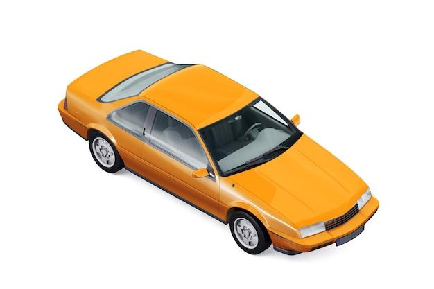 Retro coupé auto 1988 mockup