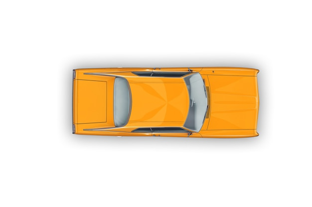 Retro coupé auto mockup