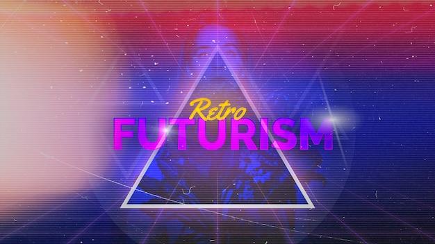 Retro futurisme achtergrond