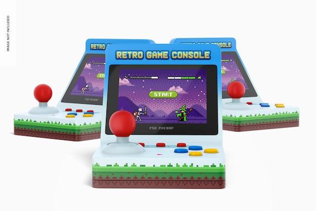 Retro handheld gameconsole-setmodel