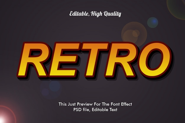 Retro lettertype effect mockup
